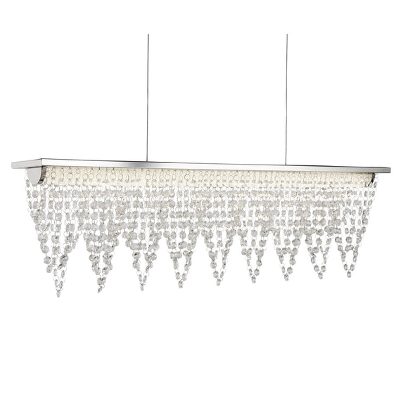 Crystal  Glass Beads With Chrome Light Fitting LED