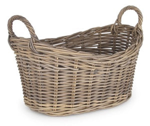 Wicker  Oval Linen Basket