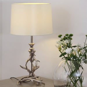 Silver Finish Antler Table Lamp
