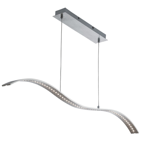 LED Curved Pendant Light Fitting