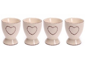 Shabby Chic Cream Set Of 4 Egg Cups