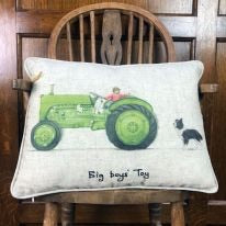 Green Tractor Cushion ' Big Boys Toys'