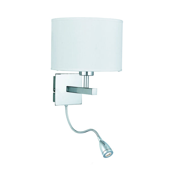 Modern Chrome Wall Light With LED Flex Arm