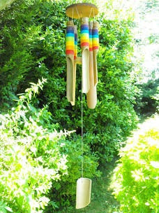 Rainbow Bamboo Windchime