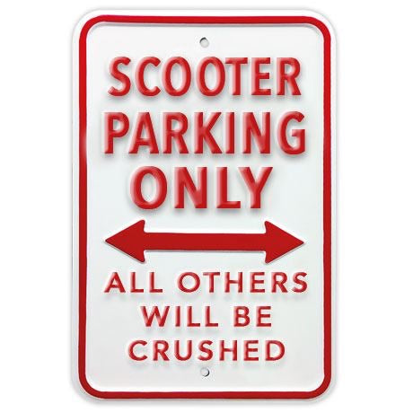 Metal Scooter Parking Sign