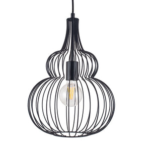 Industrial Black Wire Pendant Light Fitting