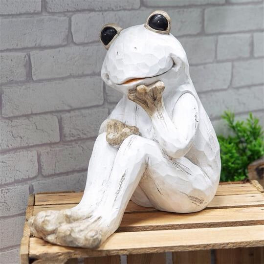 Wooden Effect Frog Ornament