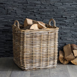 Wicker Large log Basket