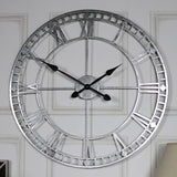 Antique Silver Metal Wall Clock