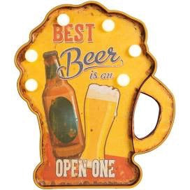 LED Light Up Beer Plaque