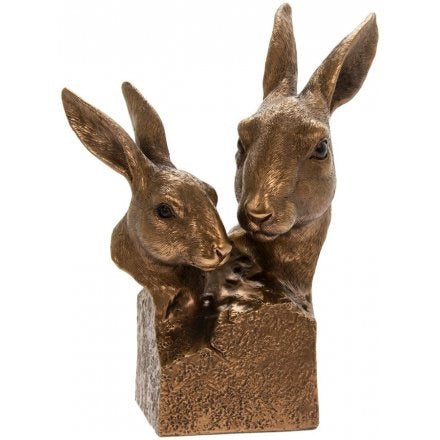 Bronzed Collection Of Hare Faces