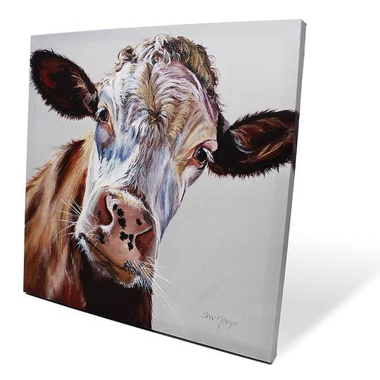 Delilah Cow Canvas Picture