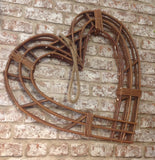 Large Natural Willow Twig Heart Wreath