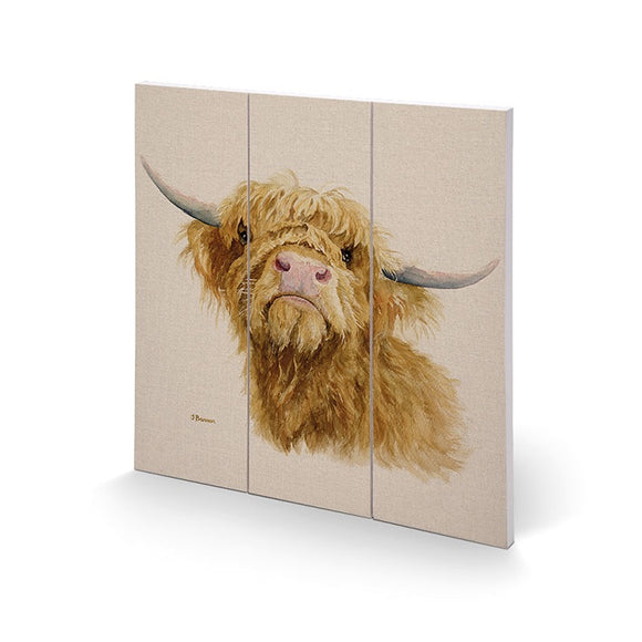 Highland Cow Wooden Wall Art