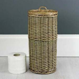 Antique Wash Willow Toilet Roll Holder