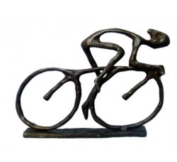 Cast Iron Cyclist Figure