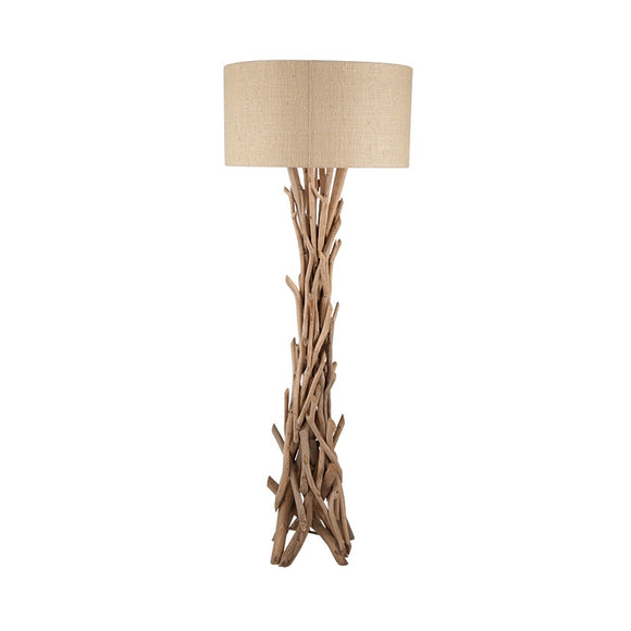 Driftwood Floor Lamp With Natural Jute Shade