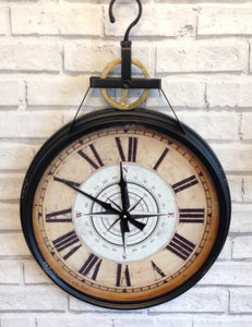 Metal Compass Wall Clock