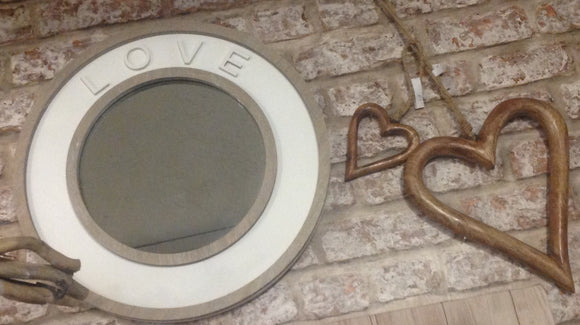 Wooden LOVE Wording Mirror