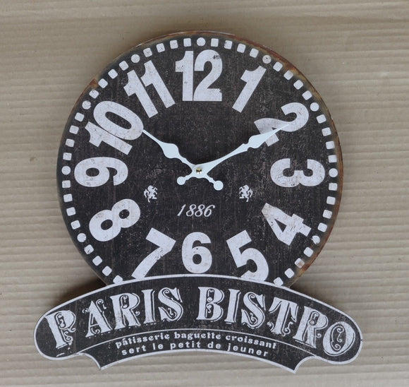 Paris Bistro Wall Clock