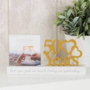 50Years Golden Wedding Anniversary Frame