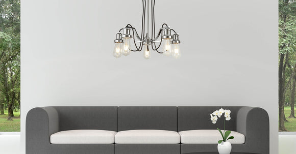 Modern Chrome Industrial Ceiling Light