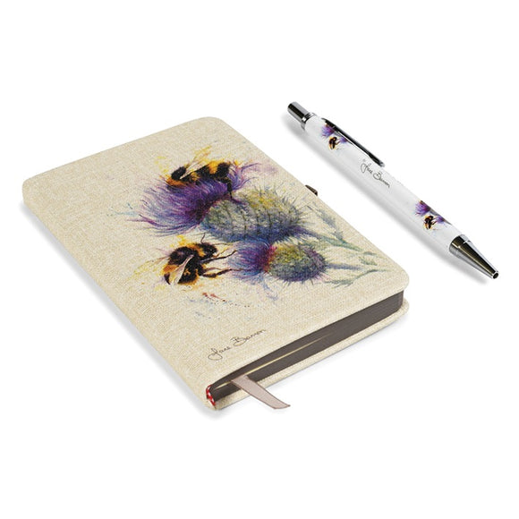 Bees On Thistles Notebook And Matching Pen Set
