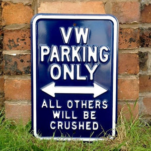 Metal VW Parking Sign