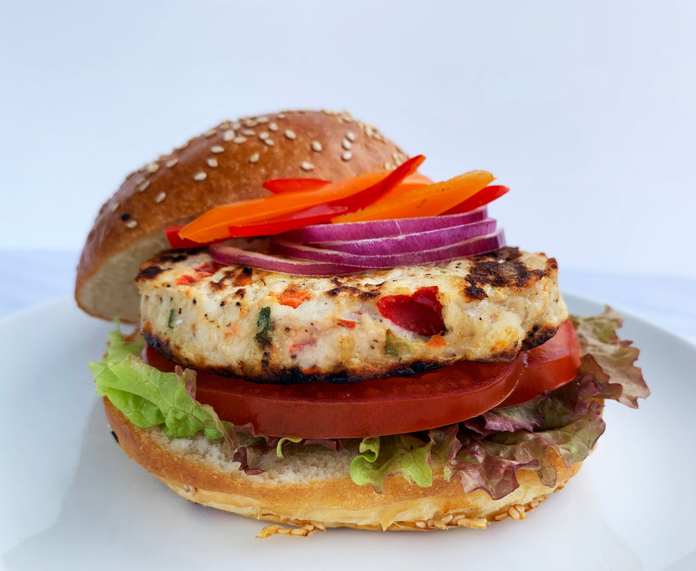 Onion and Pepper Albacore Burger - 4 Patties - Annasea