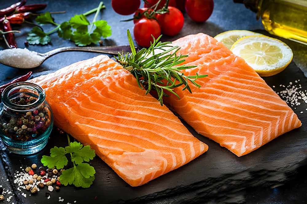 Frozen Wild King Salmon Portion - 6 oz Package - Annasea
