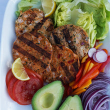 Load image into Gallery viewer, Onion and Pepper Wild Salmon Burger - AnnaSea
