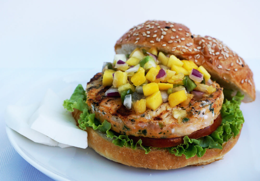 Onion and Black Pepper Wild Salmon Burger - 4 Patties - Annasea