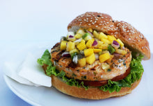Load image into Gallery viewer, Onion and Black Pepper Wild Salmon Burger - 4 Patties - Annasea