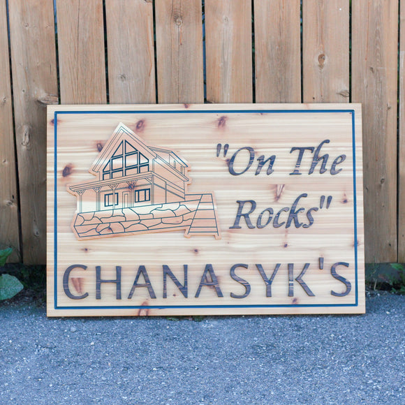 Outdoor Cabin Sign