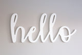 Hello - Small DIY 3D Word
