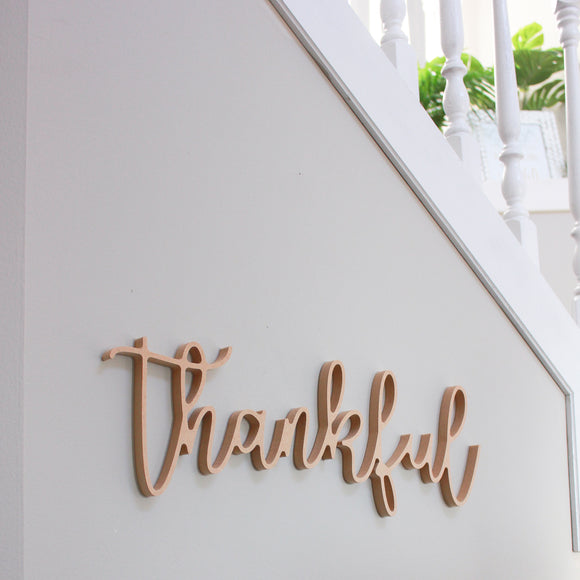 Thankful - Small DIY 3D Word