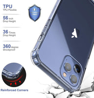 iPhone 12 Pro/Pro Max Shockproof Clear Bumper Case - ARKAY KOLLECTION