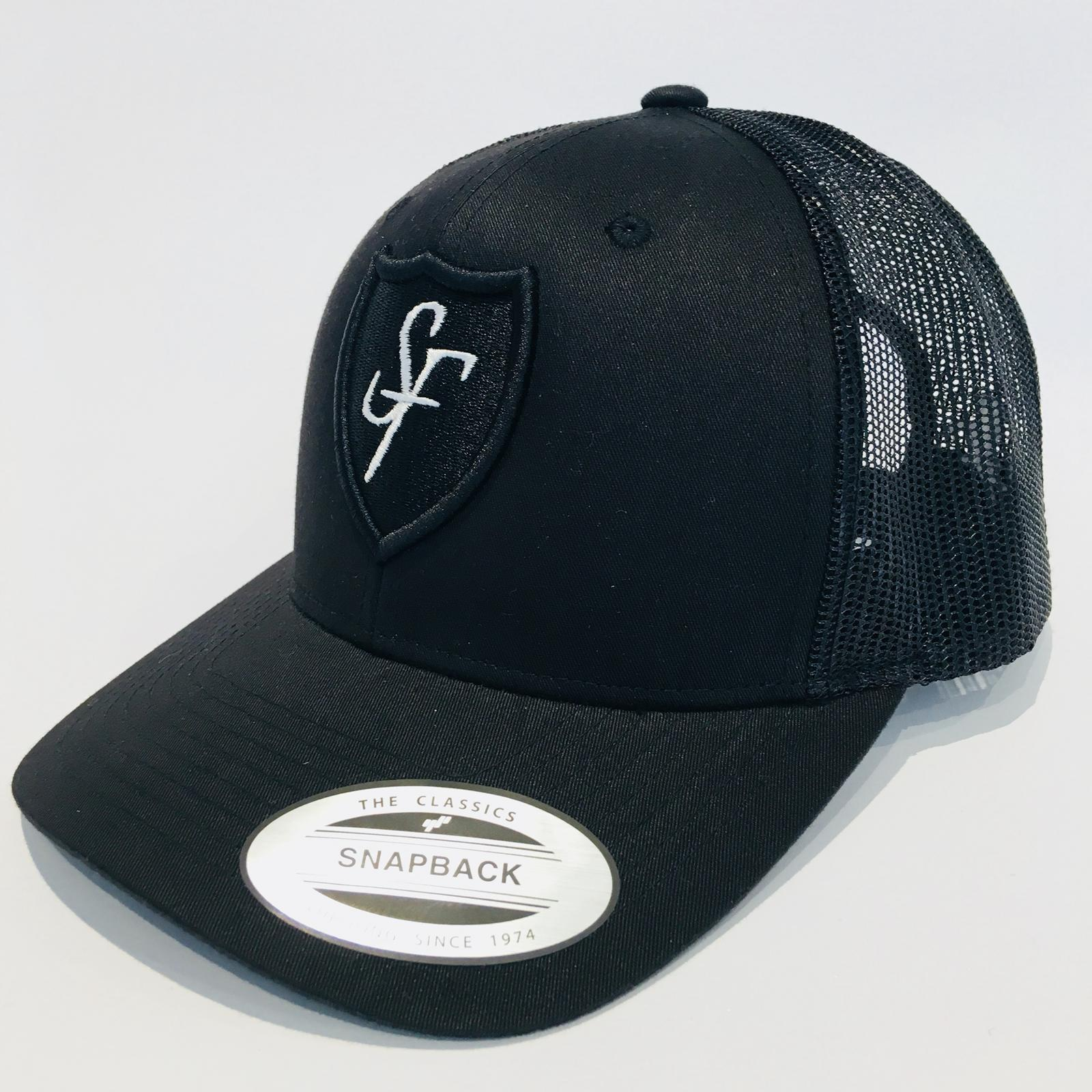 SIX FIGURES Shield Trucker Cap - Black