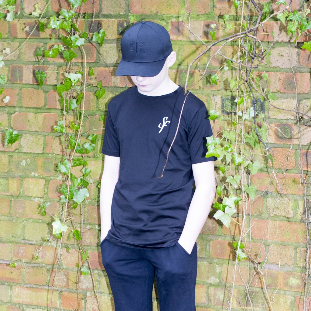 Youth 'SF' Logo T-Shirt - Black - Six Figures Official