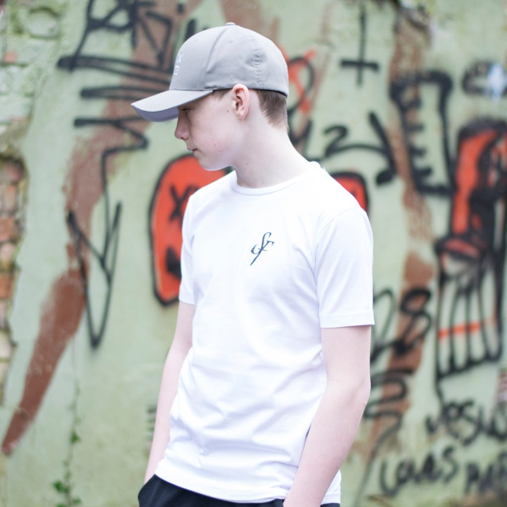 Youth 'SF' Logo T-Shirt - White - Six Figures Official