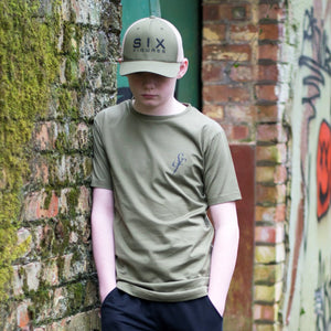 Youth 'SF' Logo T-Shirt - Khaki Green - Six Figures Official