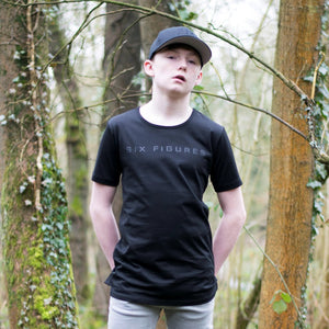 Youth 'Six Figures' T-Shirt - Black - Six Figures Official