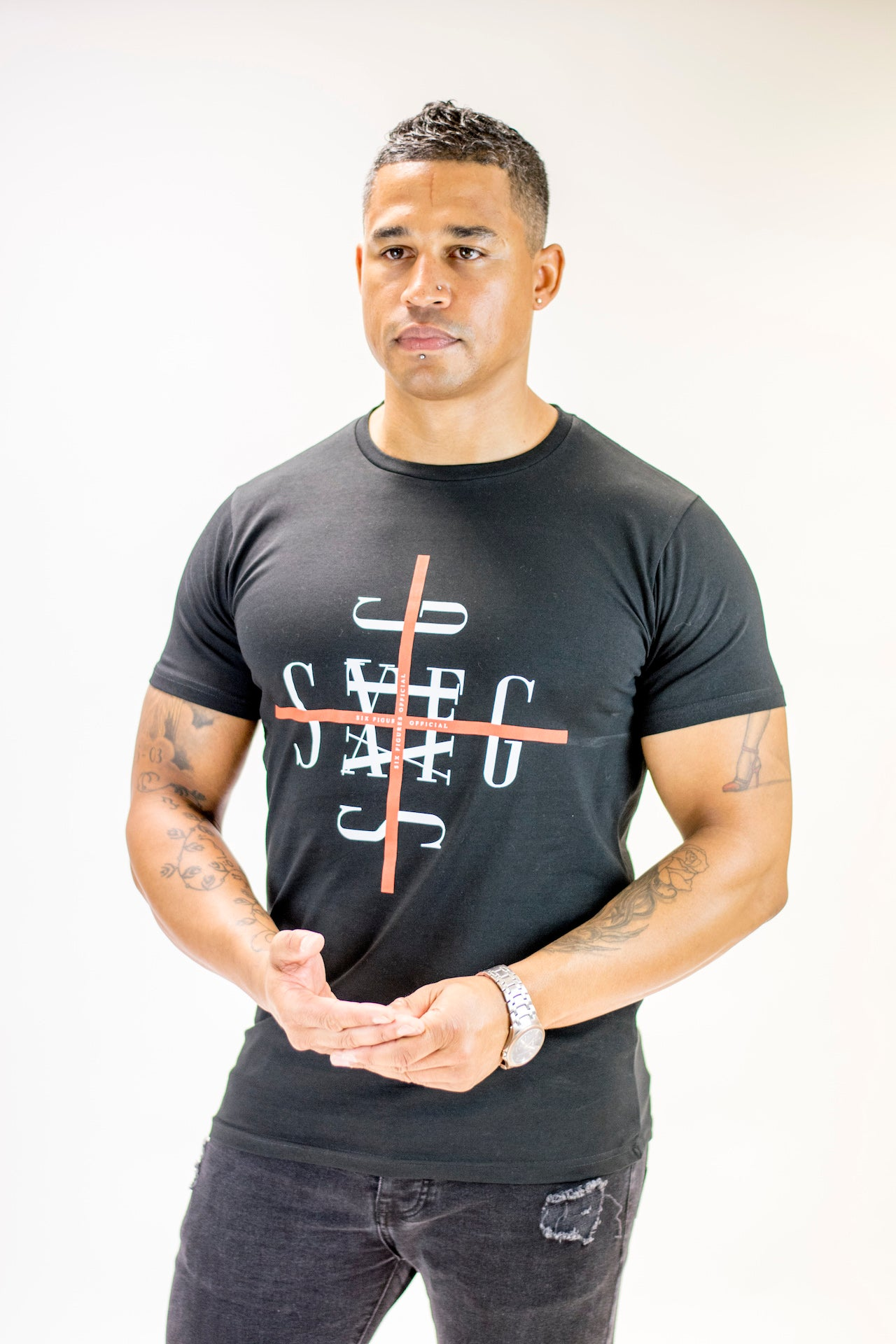 Cross T-Shirt - Black