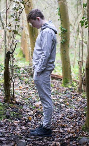 Youth 'Six Figures' Side Logo Tracksuit Hoodie - Grey - Six Figures Official