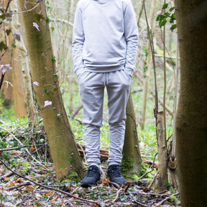 Youth 'Six Figures' Side Logo Tracksuit Joggers - Grey - Six Figures Official