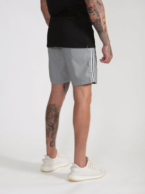 Dog Tooth Side Stripe Shorts