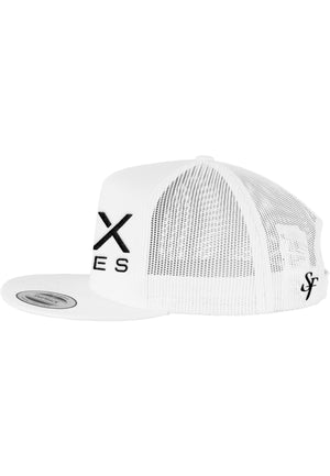 SIX FIGURES Trucker Cap - White + Black - Six Figures Official