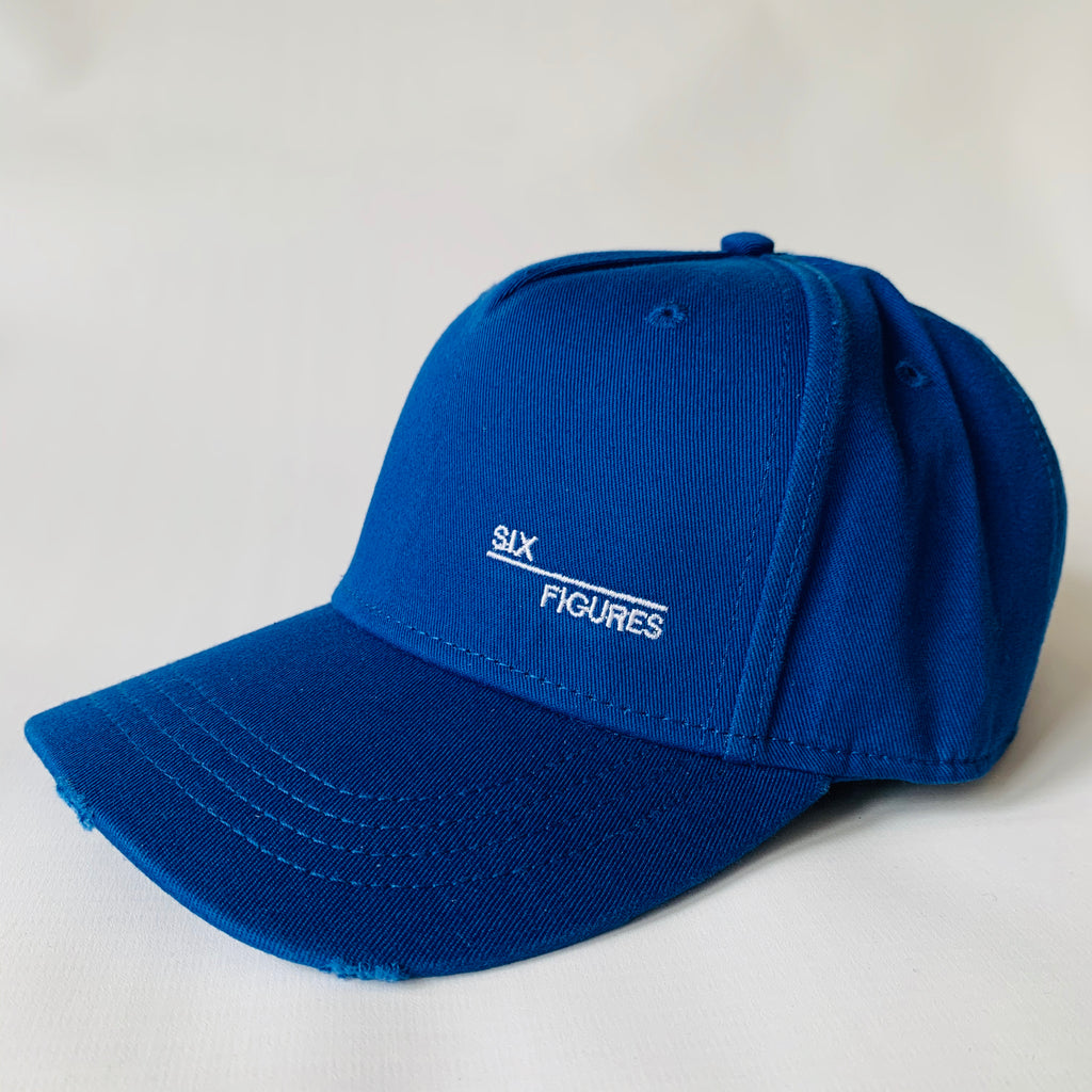 SIX FIGURES Distressed Cap - Side logo