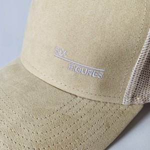 SIX FIGURES Suede Cap - Side logo