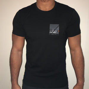Matrix Print T-Shirt - Black
